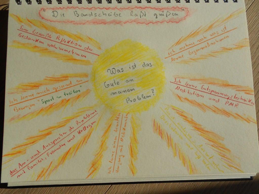 Creative-Journaling - Übung Bandscheibe