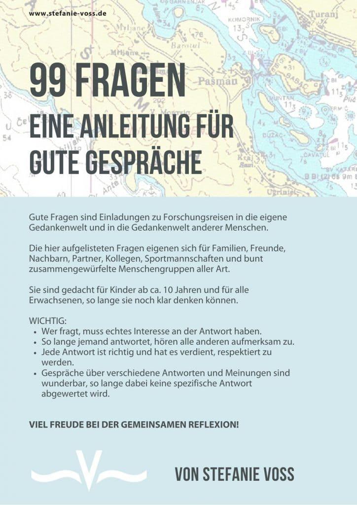 99 Fragen - eine Anleitung für gute Gespräche - von Stefanie Voss
