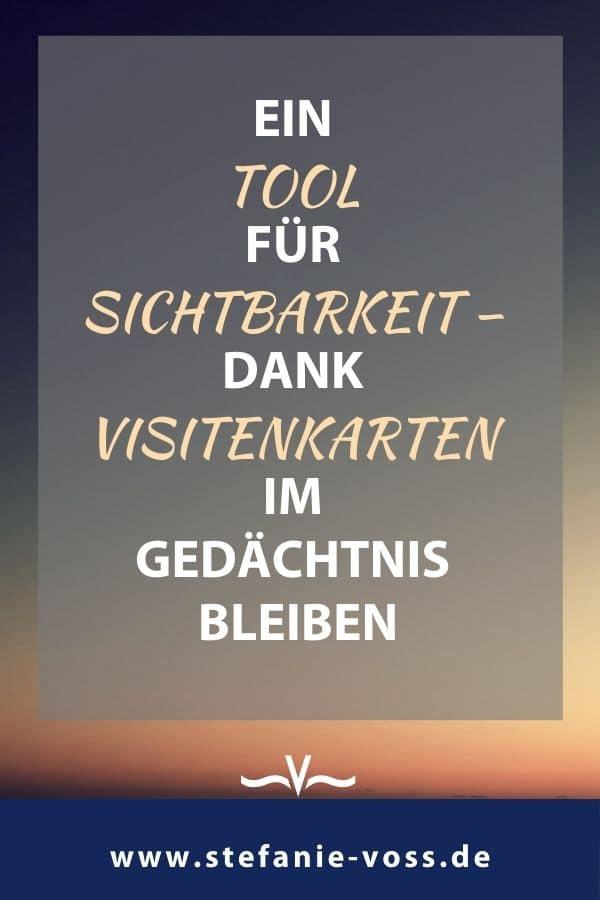 Ein Tool für Sichtbarkeit – dank Visitenkarten im Gedächtnis bleiben - Videoblog von Stefanie Voss