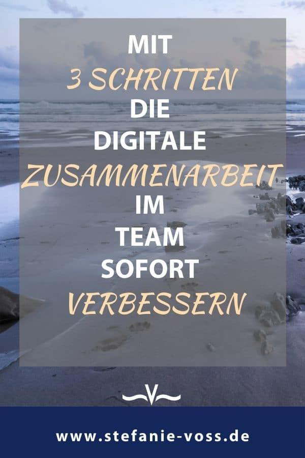 Mit 3 Schritten die digitale Zusammenarbeit im Team sofort verbessern - Videoblog von Stefanie Voss