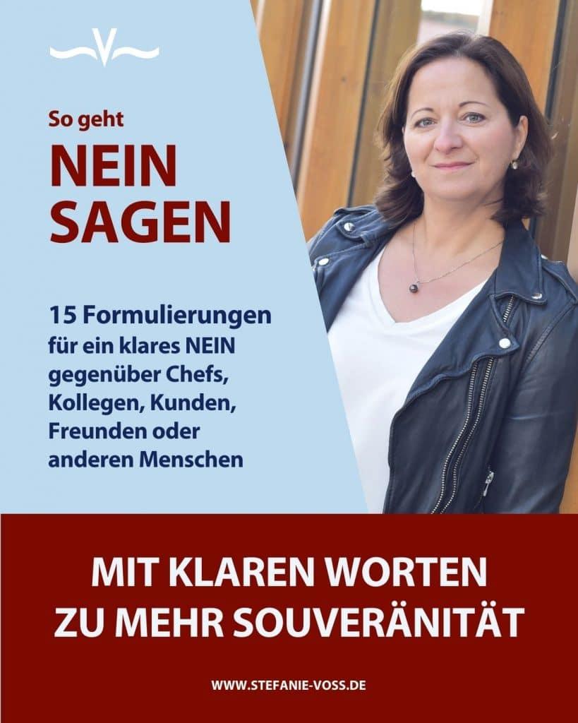 NEIN sagen - 15 Formulierungen - von Stefanie Voss